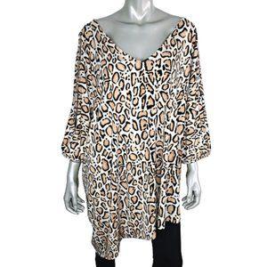 Lane Bryant Leopard Tunic Top Plus Size 26W 28W